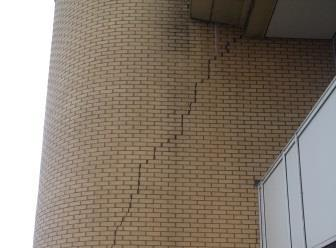 Example of a building with structural cracking